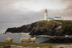 Fanad head lighthouse. county Donegal. Ireland. Fanad head lighthouse in stormy weather. county Donegal. Ireland Royalty Free Stock Photos