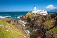 Fanad Head Lighthouse. On a sunny day, County Donegal, Ireland Stock Photos