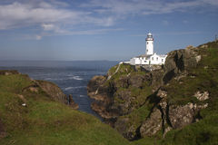 Fanad lighthouse in Donegal - Ireland. A nice panorama of the north head of Ireland, Fanad lighthouse in Donegal Royalty Free Stock Photo