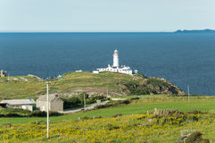 Fanad lighthouse in Donegal - Ireland Royalty Free Stock Photography