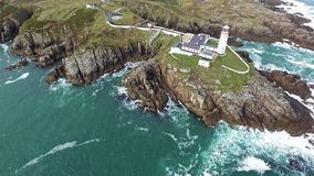 Fanadhead Lighthouse, Donegal, Ireland stock video footage
