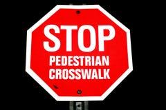 Fanale di arresto pedonale del Crosswalk Immagine Stock Libera da Diritti
