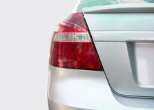Fanale posteriore di un'automobile d'argento moderna nel parcheggio Fotografie Stock Libere da Diritti