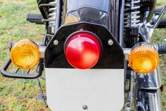Fanale posteriore ed indicatori posteriori della bici del nero di Mordern fotografie stock