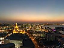 FANAR Qatar Islamic Cultural Center. At night in Doha Qatar Royalty Free Stock Images