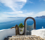 Fanastic view from Santorini island, Oia village Stock Photography