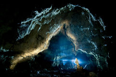 Fanate Cave. Gallery in the Fanate cave. Apuseni Mountains, Bihor county, Romania Stock Photos