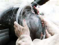 Fanatic Driving. Multiple exposure concept of fanatic and fast driving Royalty Free Stock Photography