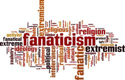 Fanaticism word cloud. Concept. Vector illustration stock illustration