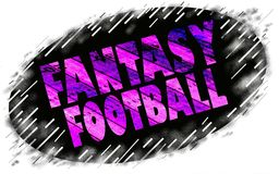 Fanatsy football sign icon Royalty Free Stock Photos