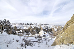 Fanciful limestone in Cappadocia. Of Turkey Royalty Free Stock Photo