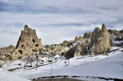 Fanciful limestone in Cappadocia Stock Photography