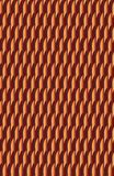 A dull but interesting red and peach pattern. The fanciful shapes seem to dance across the page, but it`s fairly flat and lacks three dimensionality. Looks like Royalty Free Stock Photography