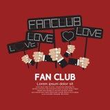 Fanclub, der Anschlagbrett zeigt Lizenzfreies Stockfoto