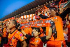 Fanclub of Nakhon Ratchasima MAZDA Football Club Stock Images