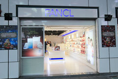 Fanclwinkel in Hong kveekoong Stock Foto