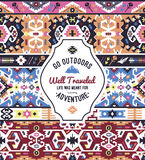 Fancy abstract geometric vector pattern in tribal style Stock Photos