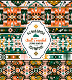 Fancy abstract geometric vector pattern in tribal style Royalty Free Stock Photography