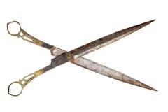 Fancy antique scissors Stock Image
