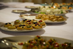 Fancy appetizer table Royalty Free Stock Photography
