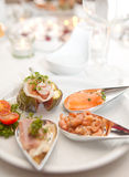 Fancy appetizers Stock Photography