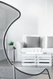 Fancy armchair makes room more stylish Stock Photos