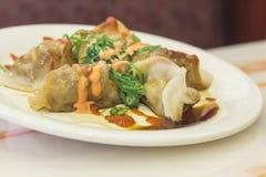 Fancy Asian Dumplings Stock Photo