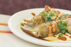 Fancy Asian Dumplings Stock Photography