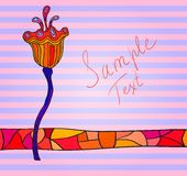 Fancy background. Fancy colorful flower striped background with a place for your text. Eps 10 Royalty Free Stock Images