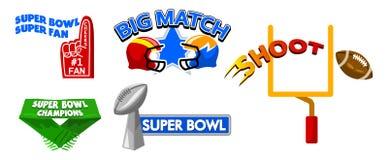 Super Bowl Event Fancy Badge stock illustration