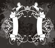 Fancy banner with horses Royalty Free Stock Photography