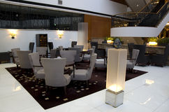 Fancy bar restaurant in hotel. A bar restaurant with fancy furniture and interiors in a luxury hotel Stock Images