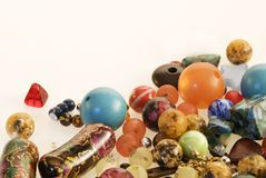 Fancy beads Royalty Free Stock Photos