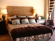 Fancy Bedroom. This is a picture of a very nice Hotel bedroom over ar Rocky Point stock photo