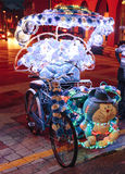 Fancy bicycle with lights for tourist in Malacca City, Malacca, Malaysia Royalty Free Stock Photos