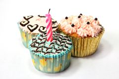 Fancy birthday cupcake Royalty Free Stock Photo