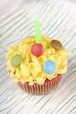 Fancy birthday cupcake Stock Photos