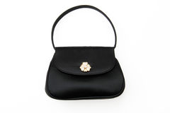 Fancy Black Evening Bag Purse Stock Photos
