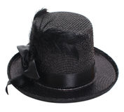 Fancy black hat Royalty Free Stock Photo