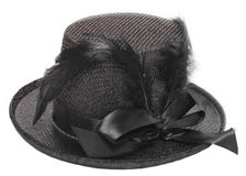Fancy black hat Royalty Free Stock Images