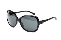 Fancy black sunglasses. Fancy black  sunglasses isolated on white Royalty Free Stock Photo
