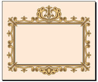 Fancy blank invitation. A fancy antique look blank invitation. EPS8 vector file also available Stock Photo