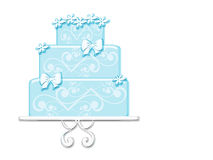 Fancy Blue Cake Royalty Free Stock Photography