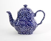Fancy Blue Teapot Royalty Free Stock Image