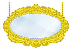Fancy Boutique Mirror Stock Photography