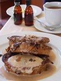 Fancy Breakfast. Gourmet pancake breakfast Royalty Free Stock Image