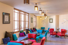 Fancy cafe in Ameri Historical House in Kashan, Iran Royalty Free Stock Photos