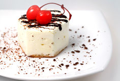 Fancy cake with cherry Stock Photography