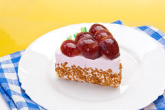 Fancy cake with grapes Royalty Free Stock Images