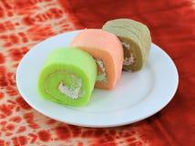 Fancy cake rolls Royalty Free Stock Image